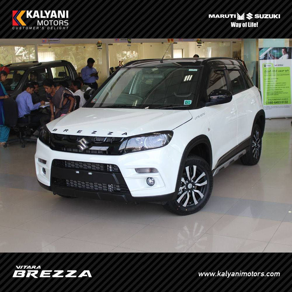 Maruti Vitara Brezza Limited Edition by Kalyani Motors front quarter