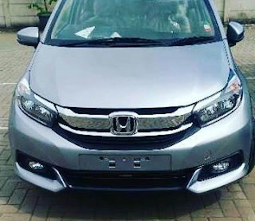 New Honda Mobilio (facelift) front spied Indonesia