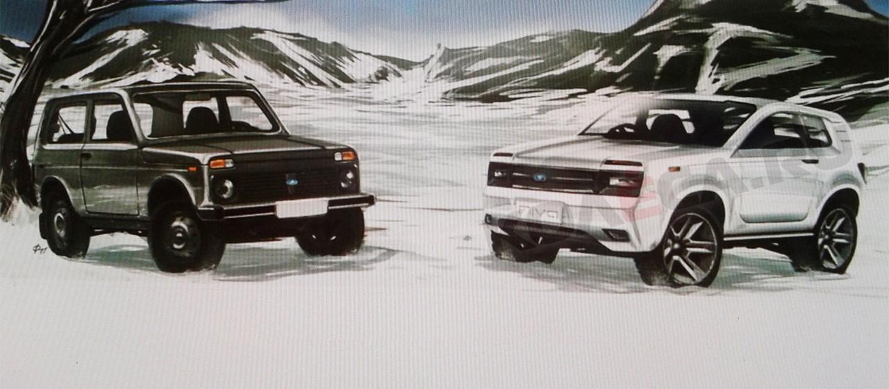 New Lada Niva sketch