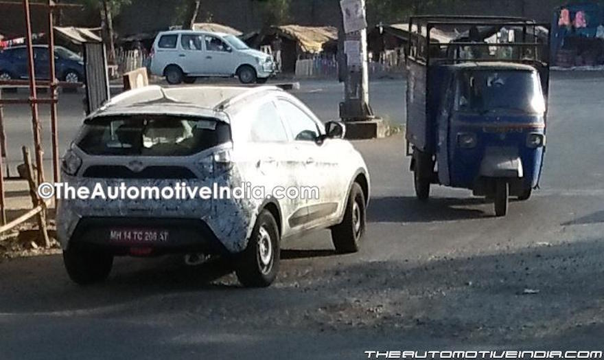 Tata Nexon rear test prototype
