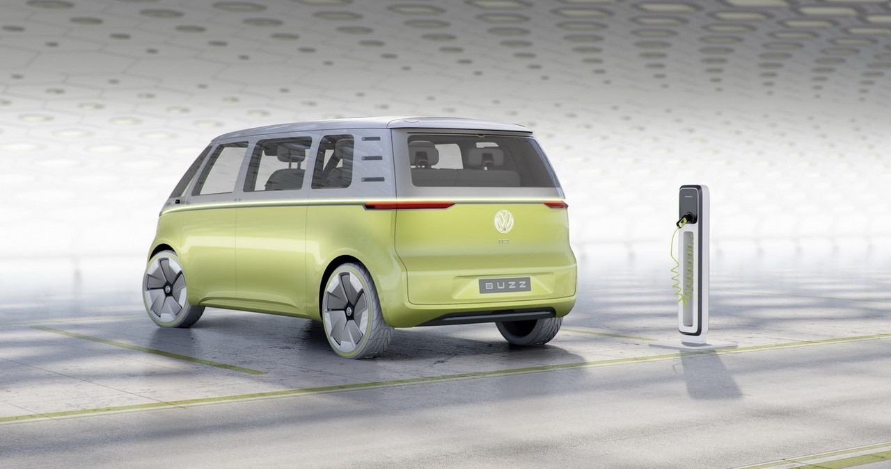 VW I.D. Buzz concept rear three quarters