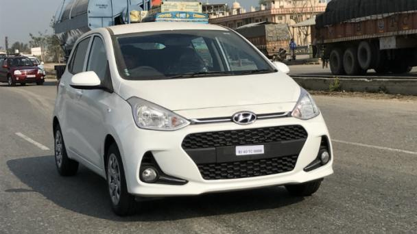2017 Hyundai Grand i10 (facelift) front spied on road