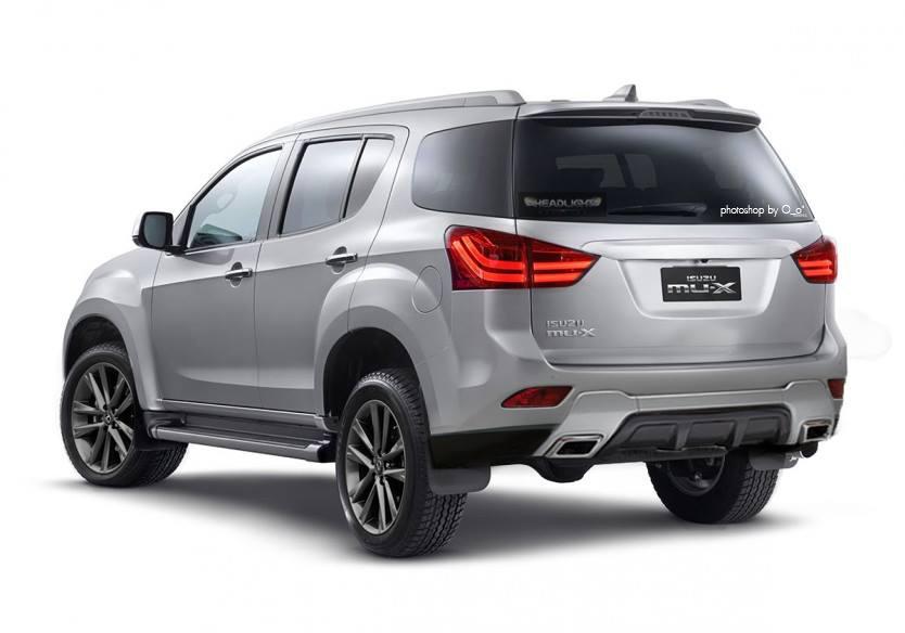 2017 Isuzu MU-X (facelift) rear Rendering