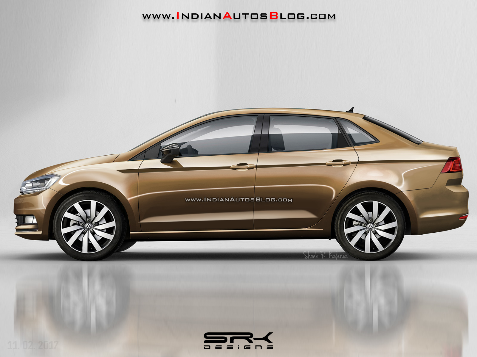 2018 VW Vento (2018 VW Polo Sedan) - Rendering