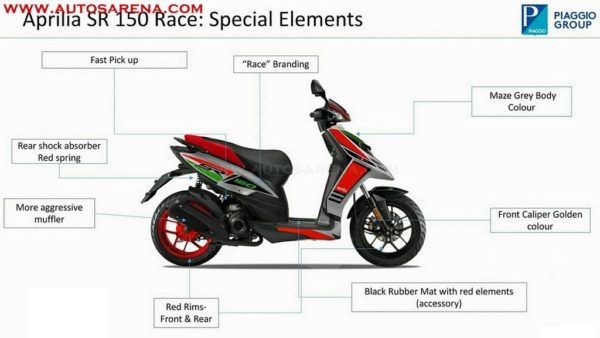 Aprilia SR 150 Race brochure leak