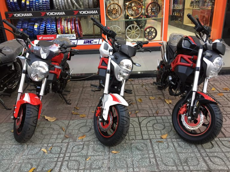 Ducati Monster lookalike monkey bike on sale in Vietnam