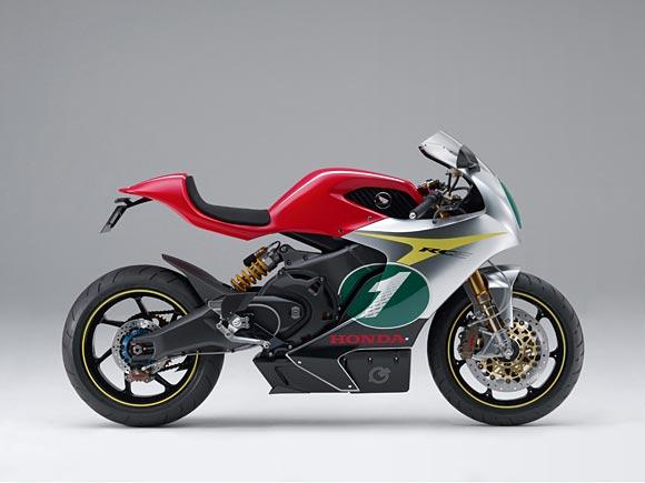 Honda RC-E electric motorcycle concept side studio
