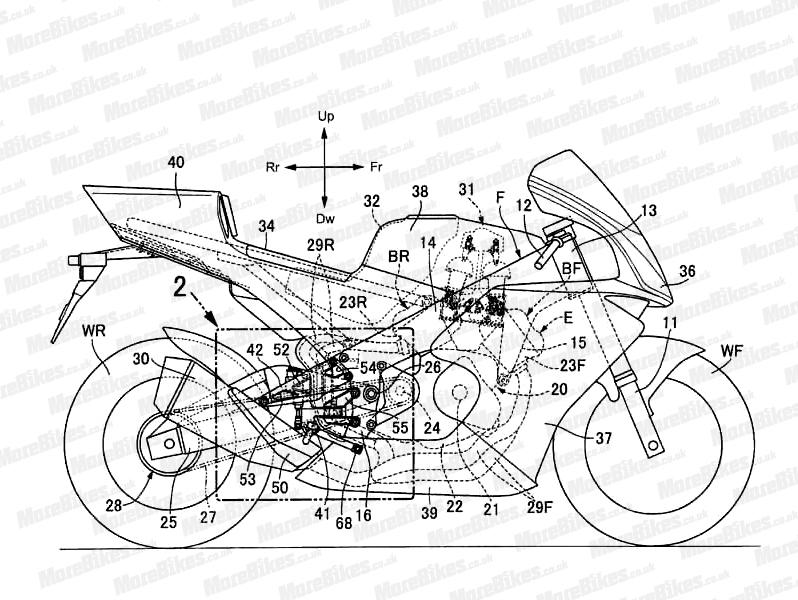 Honda V4 superbike design sketch side