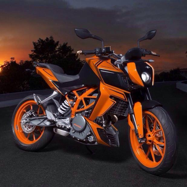 KTM Duke 390 Streetx conversion kit by Autologue Design orange