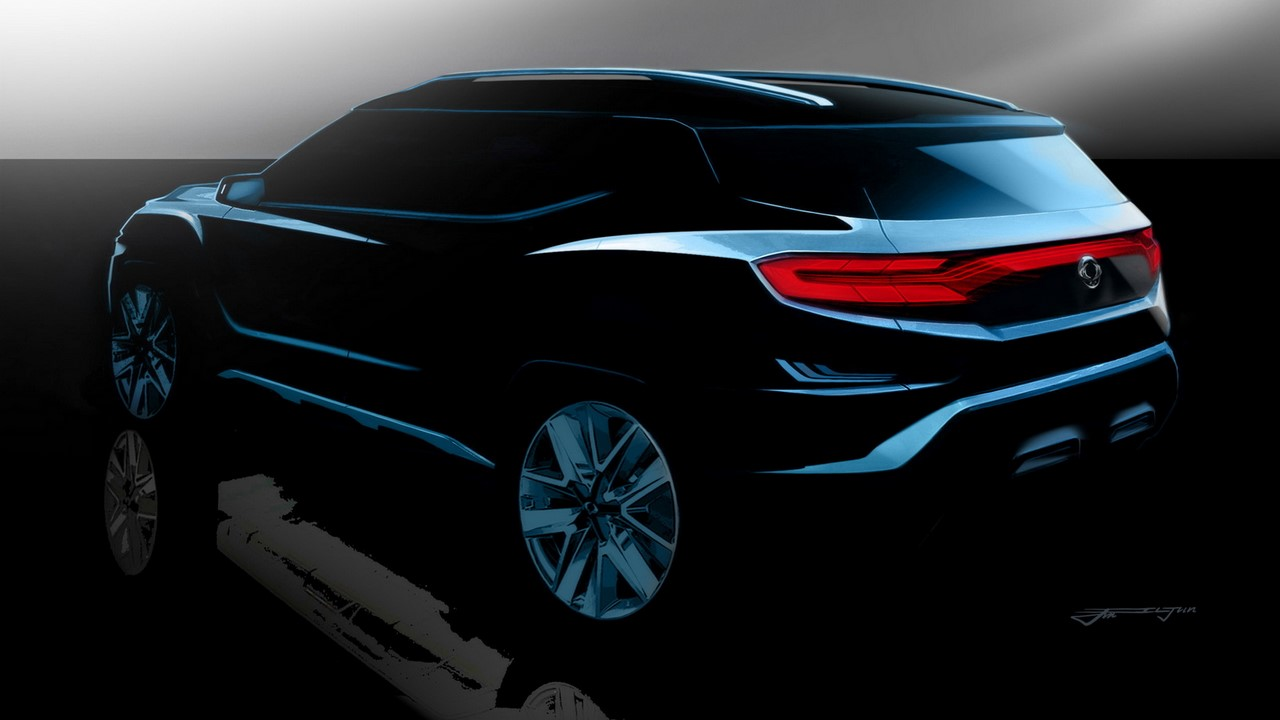 SsangYong XAVL concept rear three quarters rendering