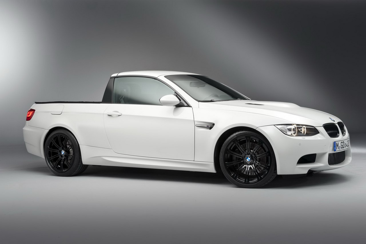 2011 BMW M3 pickup truck front three quarters