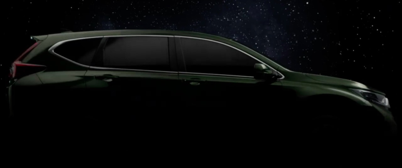 2017 Honda CR-V side teased Thailand