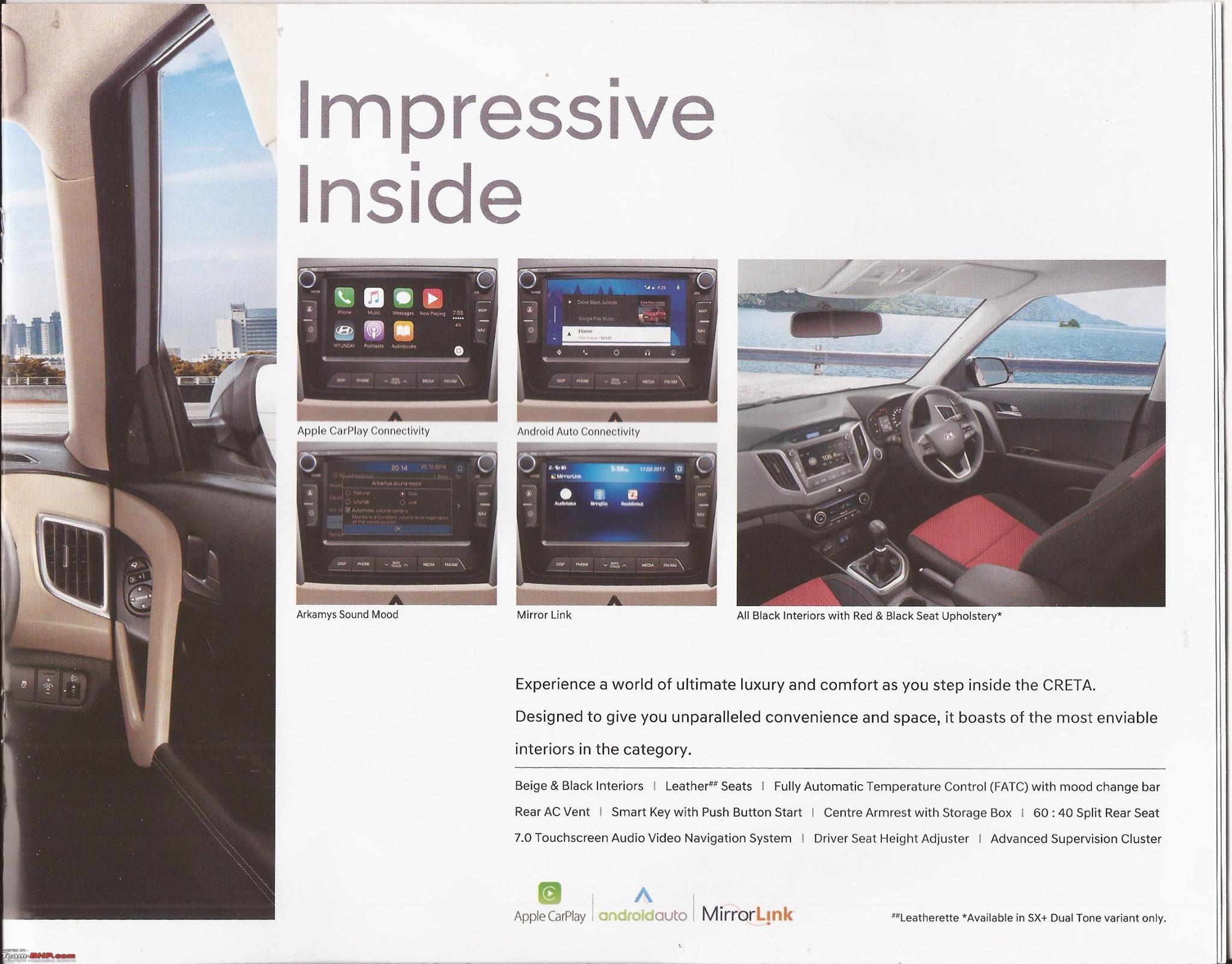 2017 Hyundai Creta interior changes