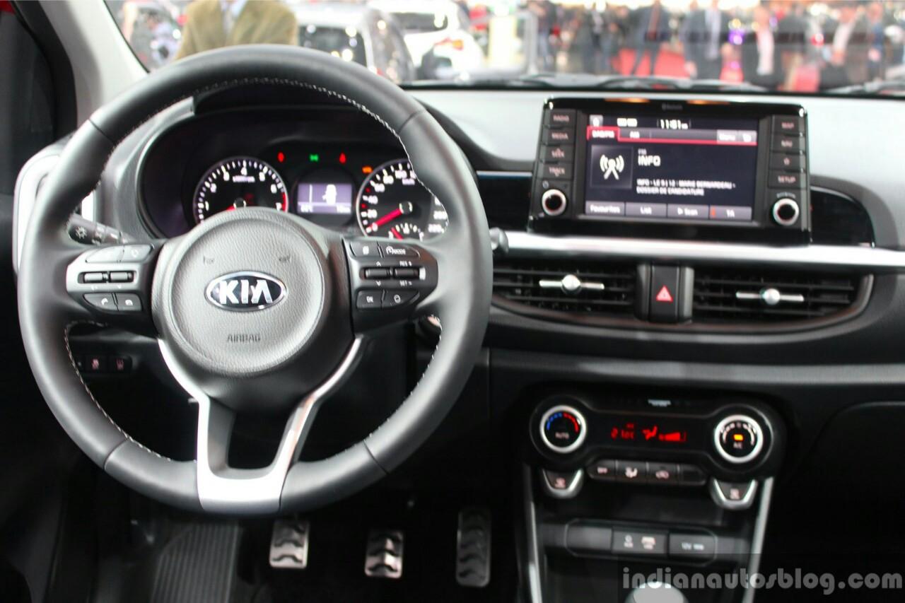 2017 Kia Picanto interior at the Geneva Motor Show Live