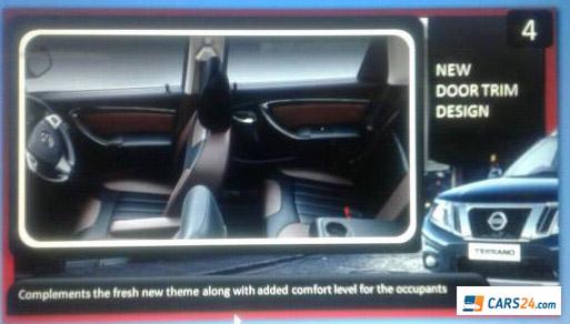 2017 Nissan Terrano (facelift) door trim