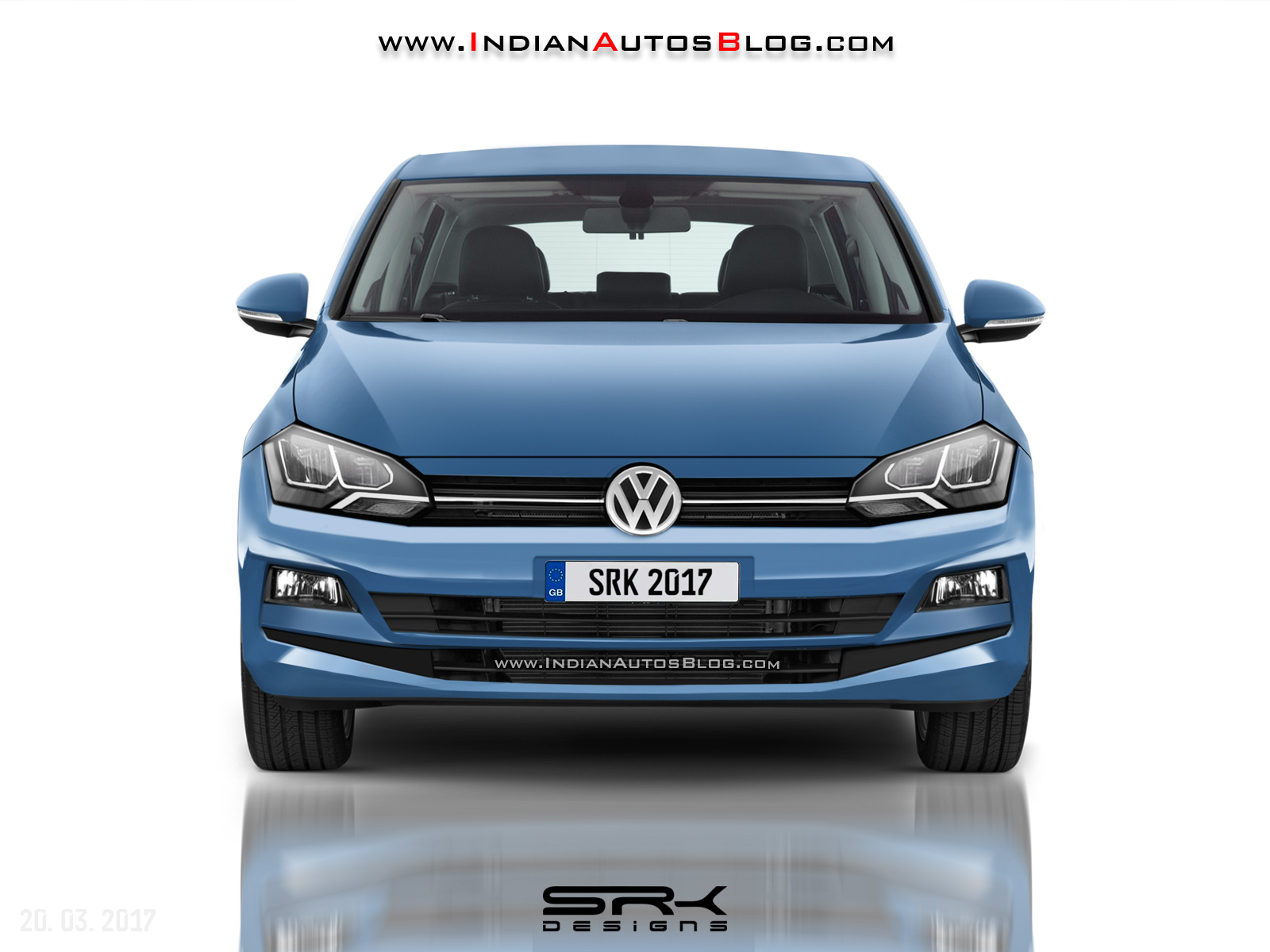 2017 VW Polo front rendering