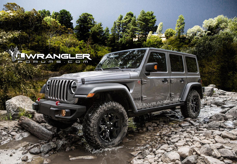 2018 Jeep Wrangler (4th gen) grey rendering