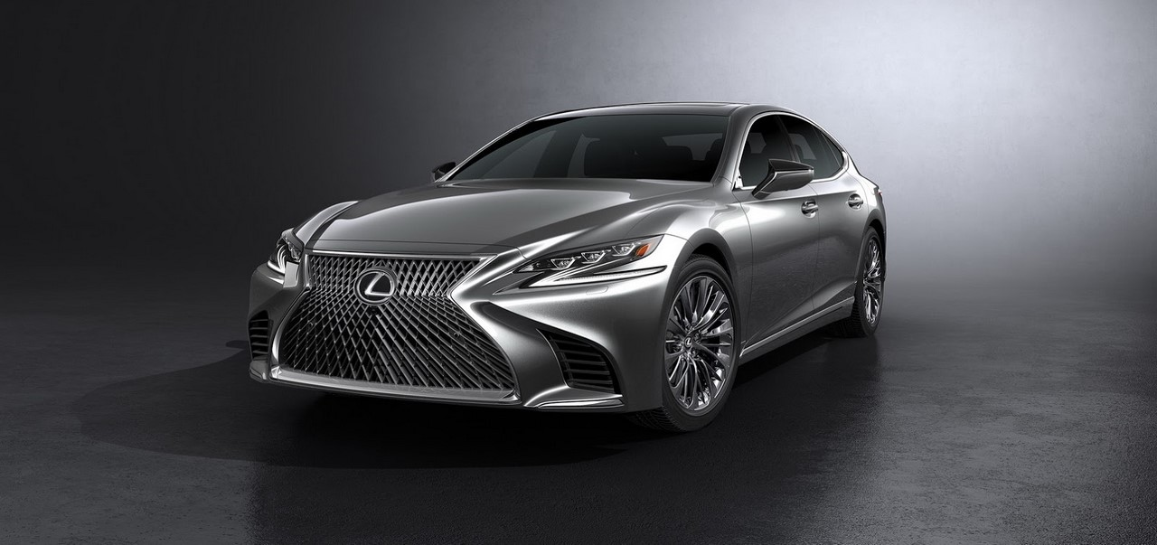 2018 Lexus LS front three equarters