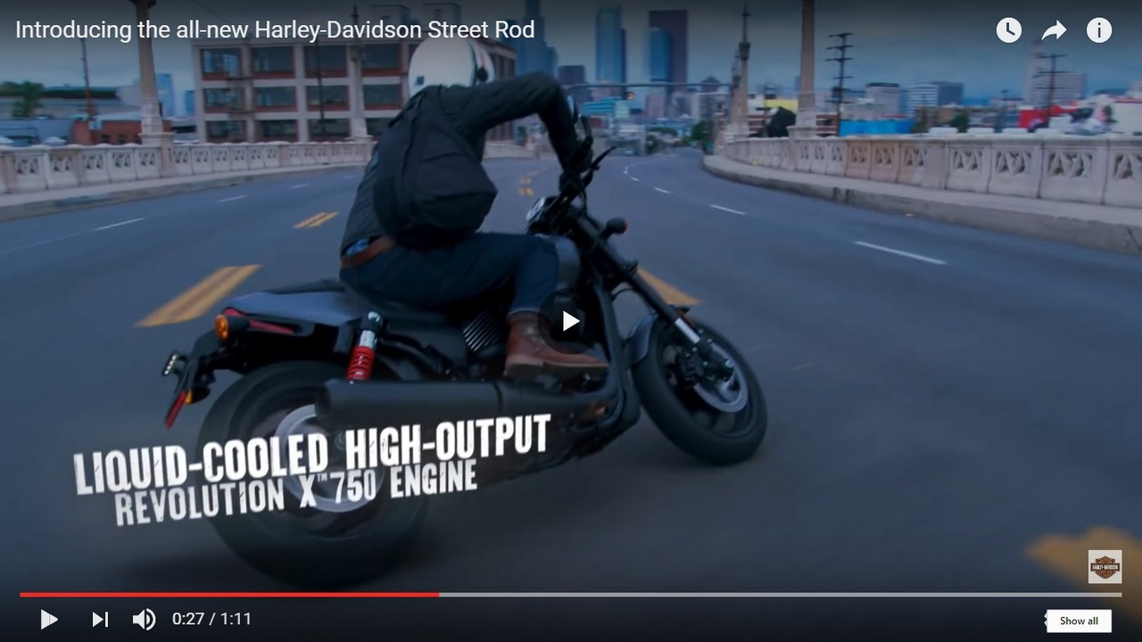 Harley Davidson Street Rod 750 video