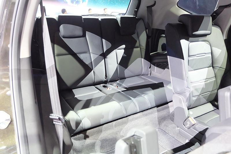 India-bound 2017 Honda CR-V 7-seater third row seat