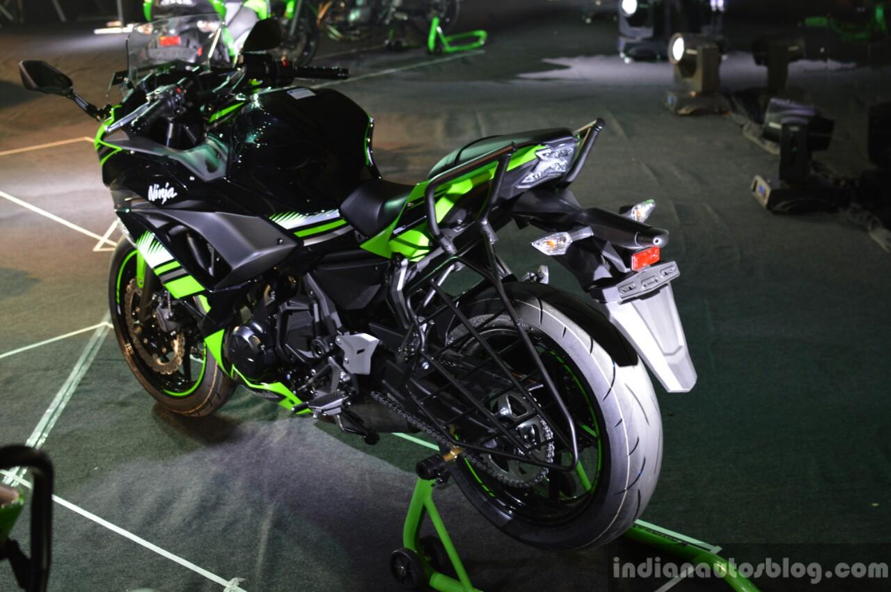Kawasaki Ninja 650 rear three quarter at India launch