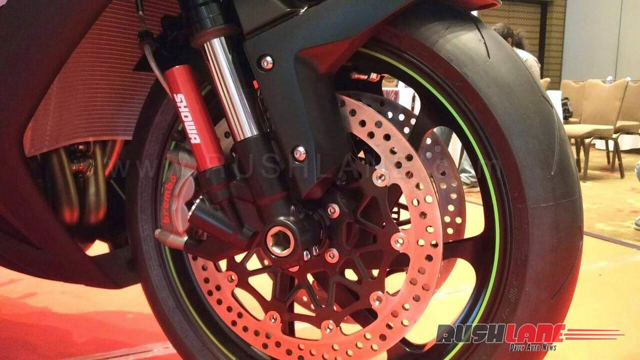 Kawasaki ZX10RR India launch front suspension