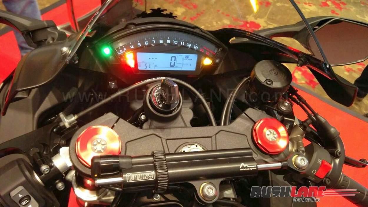 Kawasaki ZX10RR India launch instrumentation
