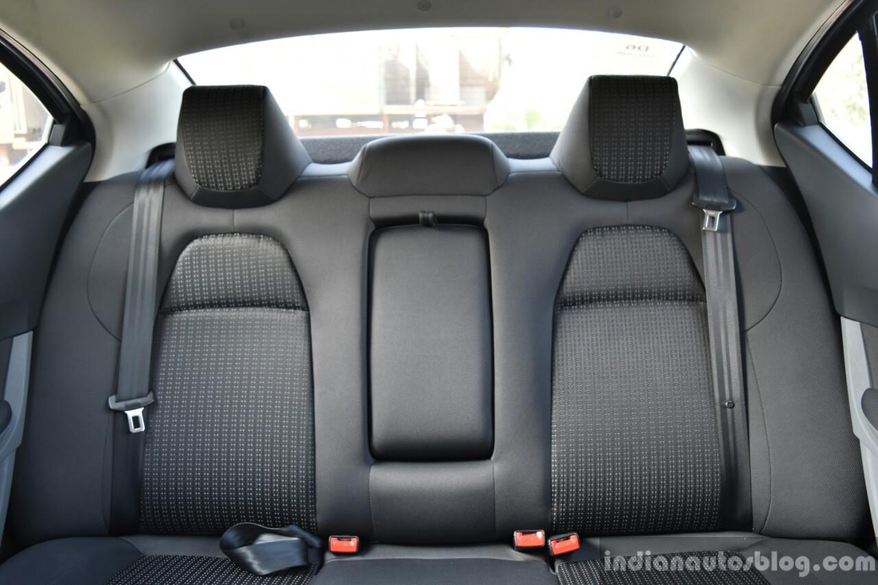 Tata Tigor First Drive rear seat Review