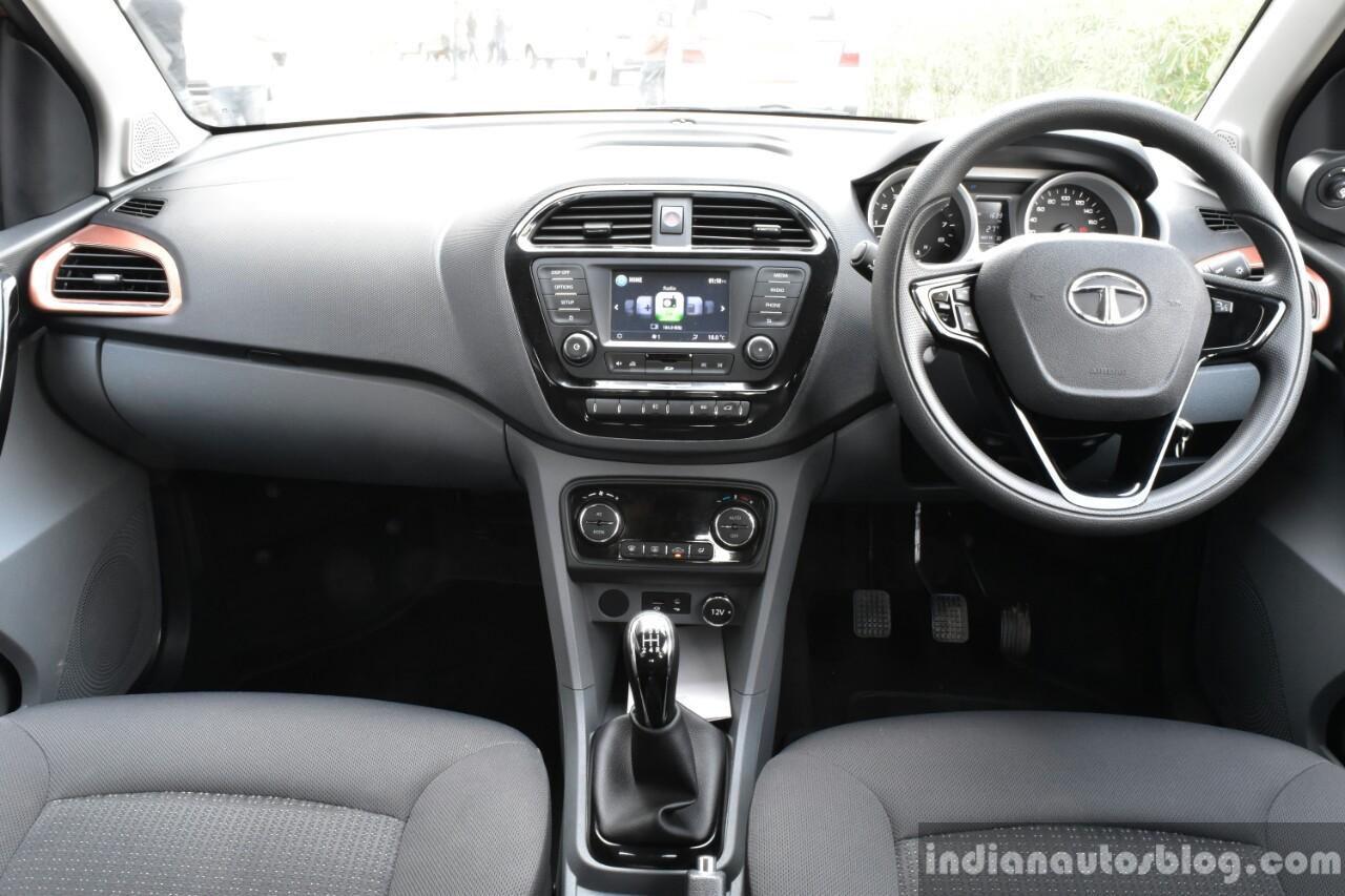 Tata Tigor petrol dashboard First Drive Review
