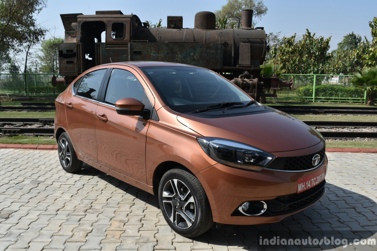 Tata Tigor petrol front three quarter First Drive Review