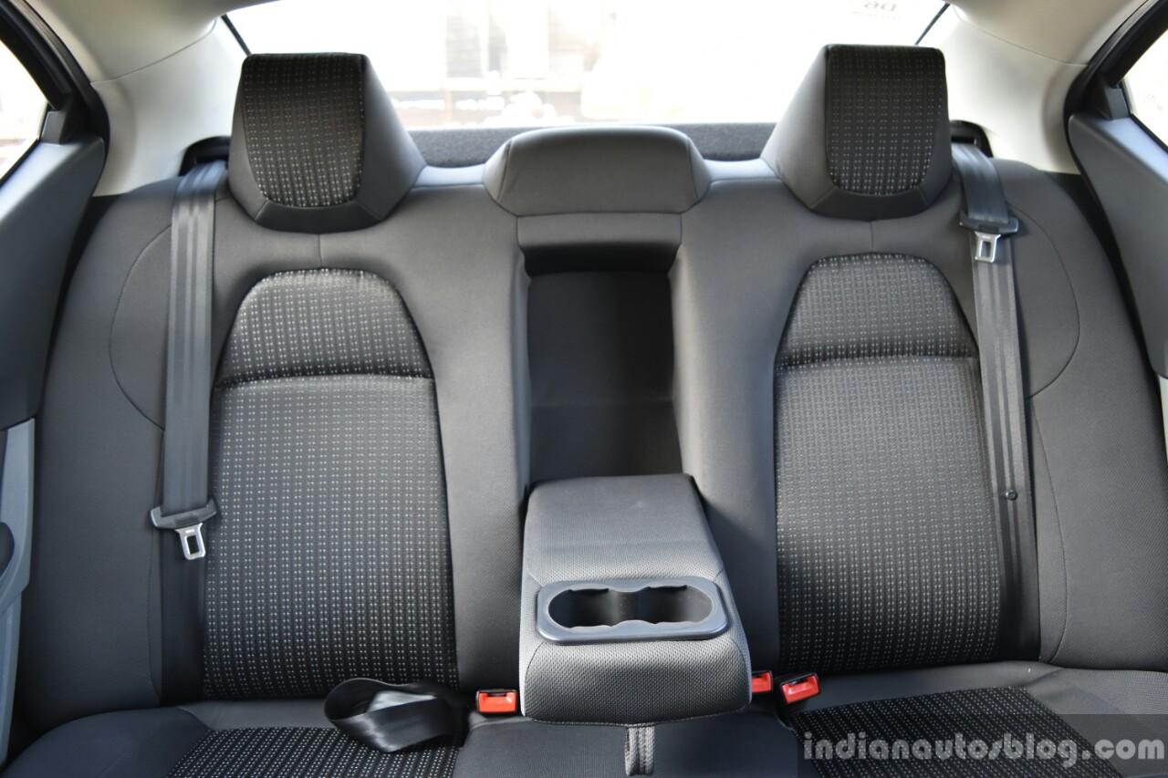 Tata Tigor rear armrest First Drive Review