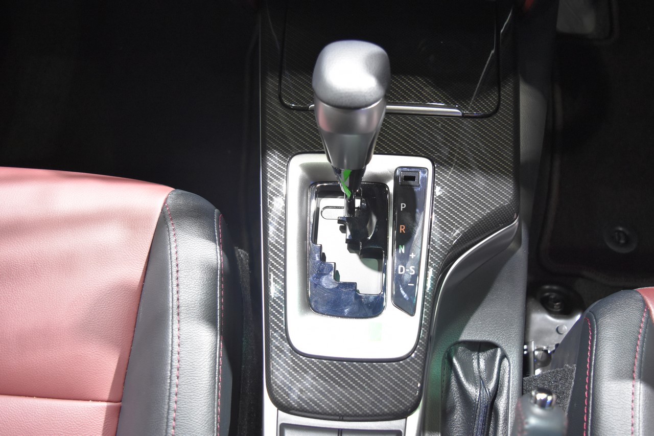 Toyota Fortuner TRD Sportivo gear selector at the BIMS 2017