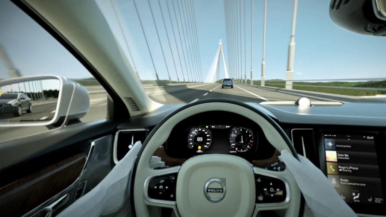 Volvo future sedan interior teaser