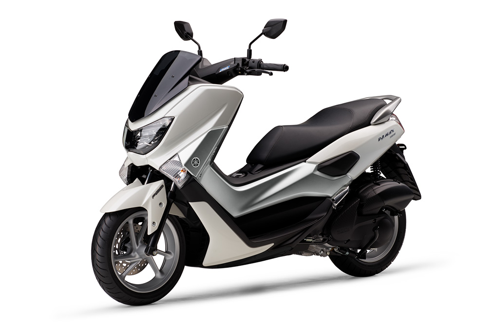 Yamaha NMax 155 side front three quarter left white