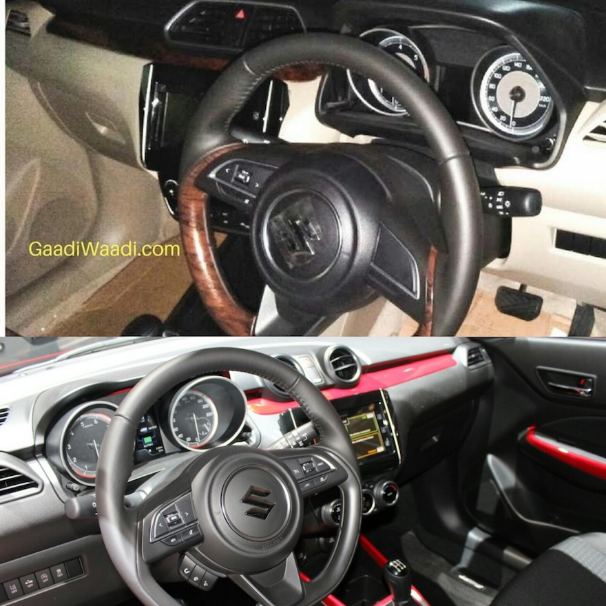 2017 Maruti Swift Dzire Gets A Subtly Different Interior From The
