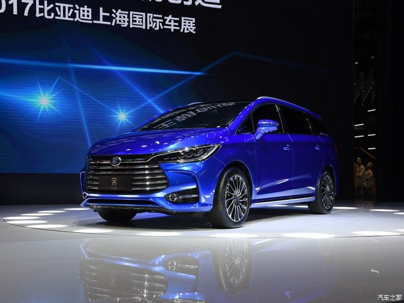 2017 BYD Song 7 front three quarters at Auto Shanghai 2017