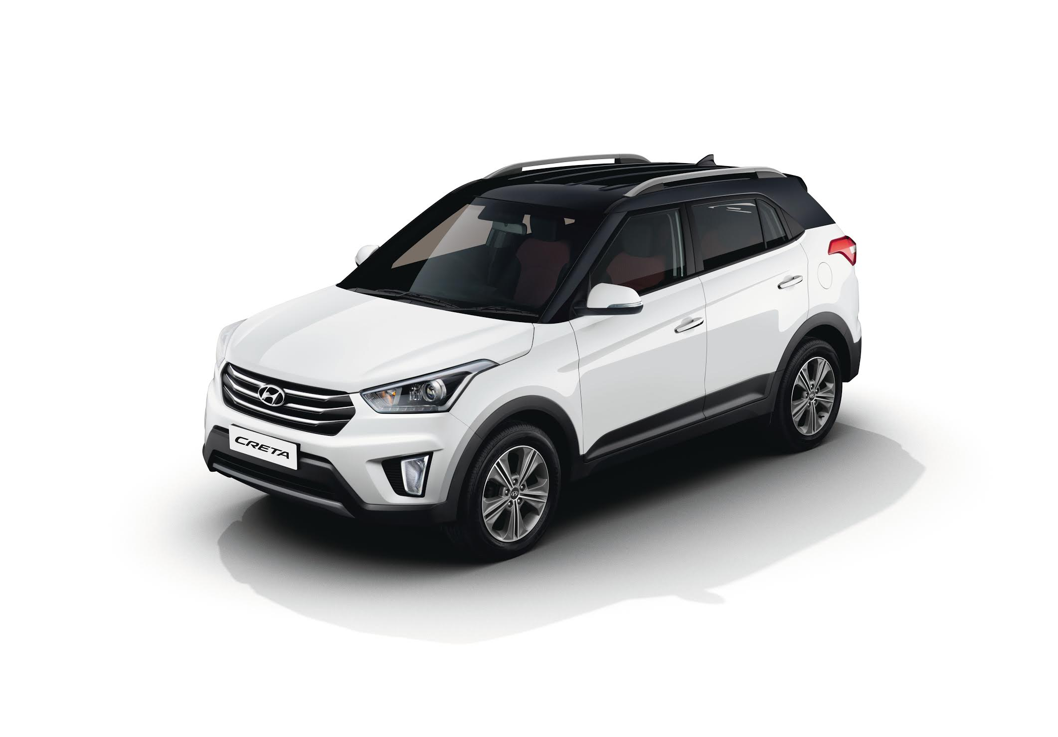 2017 Hyundai Creta with dual tone color option front three quarter press image