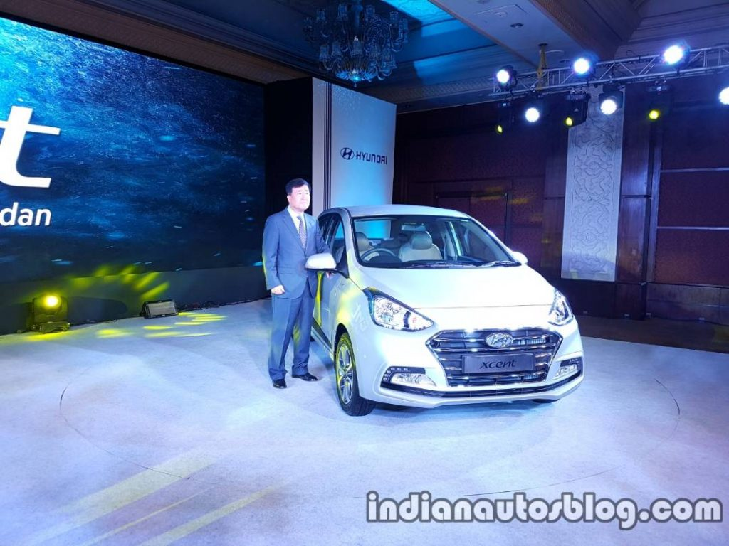 2017 Hyundai Xcent India launch front