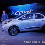 2017 Hyundai Xcent India launch side profile