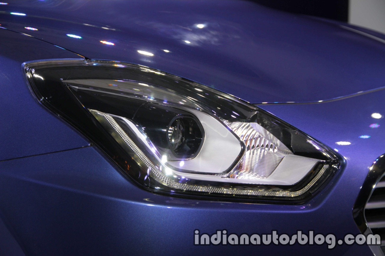 2017 Maruti Dzire (3rd gen) LED headlamps unveiled