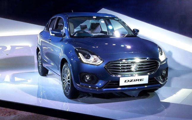 2017 Maruti Dzire front three quarters revealed