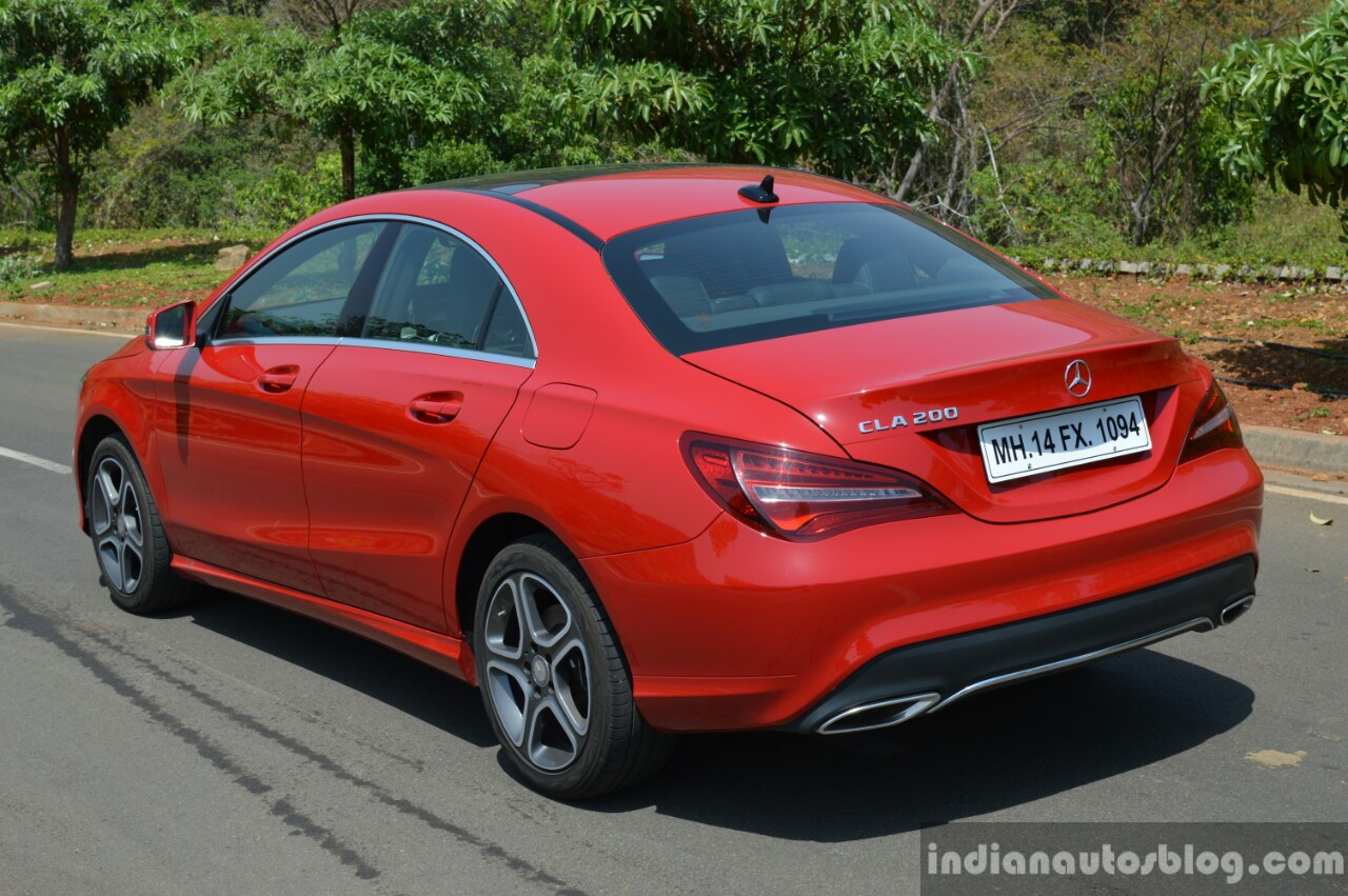 2017 Mercedes CLA (facelift) rear three quarter Review
