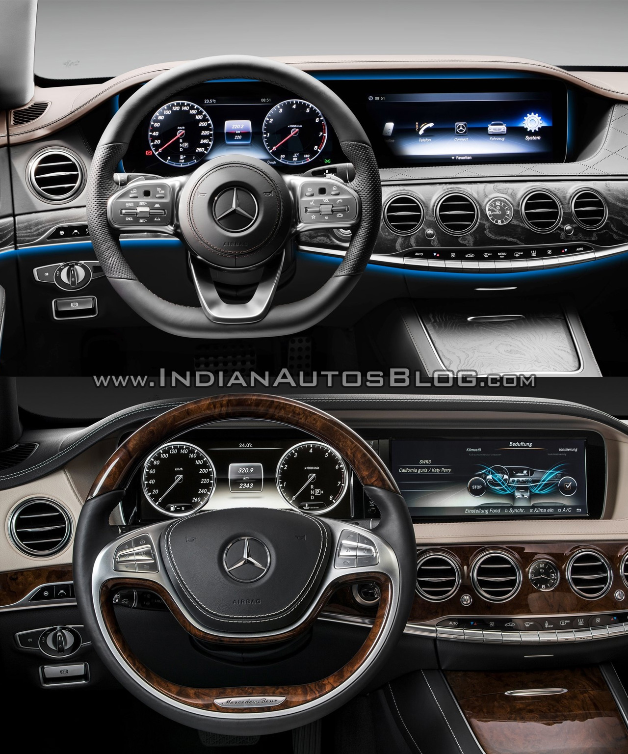 2017 Mercedes S-Class vs. 2013 Mercedes S-Class dashboard driver side
