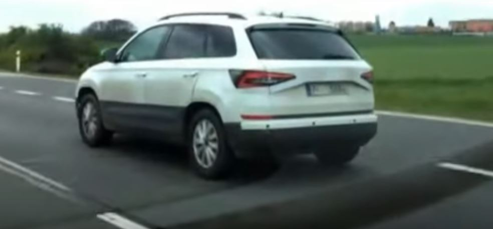 2017 Skoda Karoq rear three quarters left side spy shot