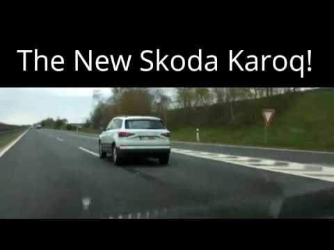 2017 Skoda Karoq rear three quarters spy shot