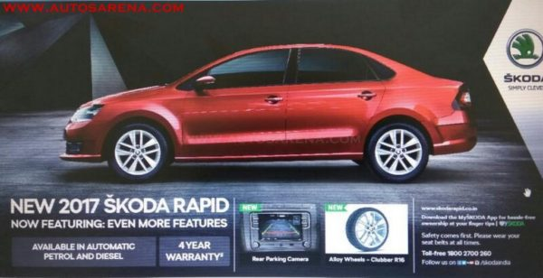2017 Skoda Rapid with 16 inch wheels red brochure scan