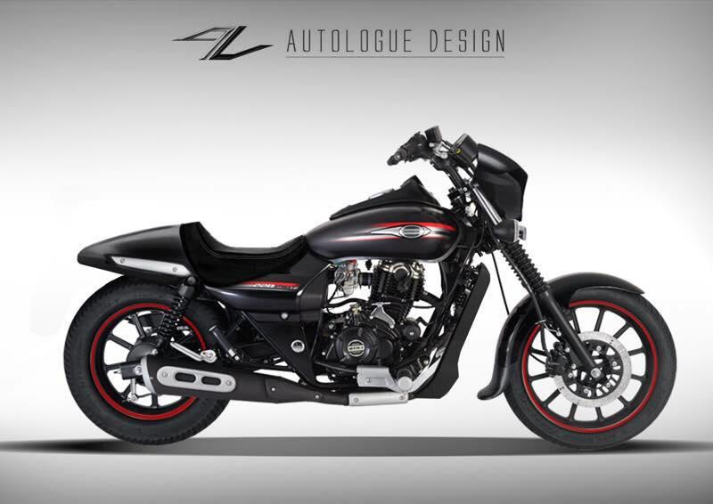 Bajaj Avenger Street 220 custoom by Autologue Design seat cowl