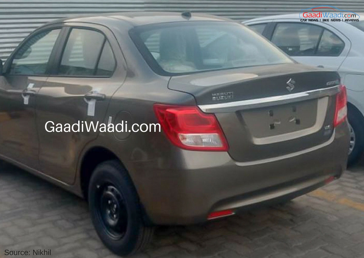 Exterior Of The 2017 Maruti Swift Dzire 3rd Gen Rear Quarter Leaked