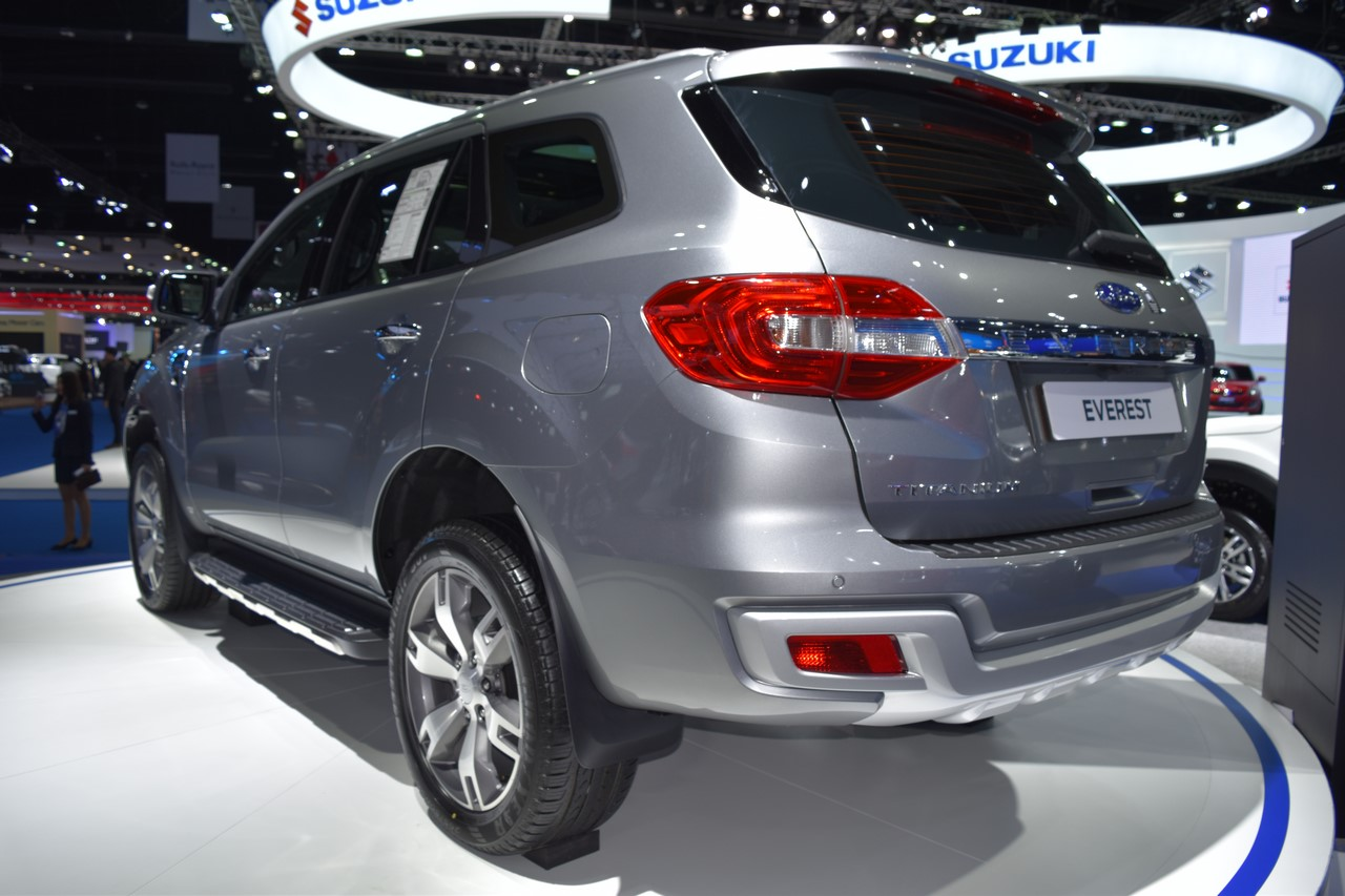 Ford Everest (Ford Endeavour) rear three quarters at 2017 Bangkok International Motor Show