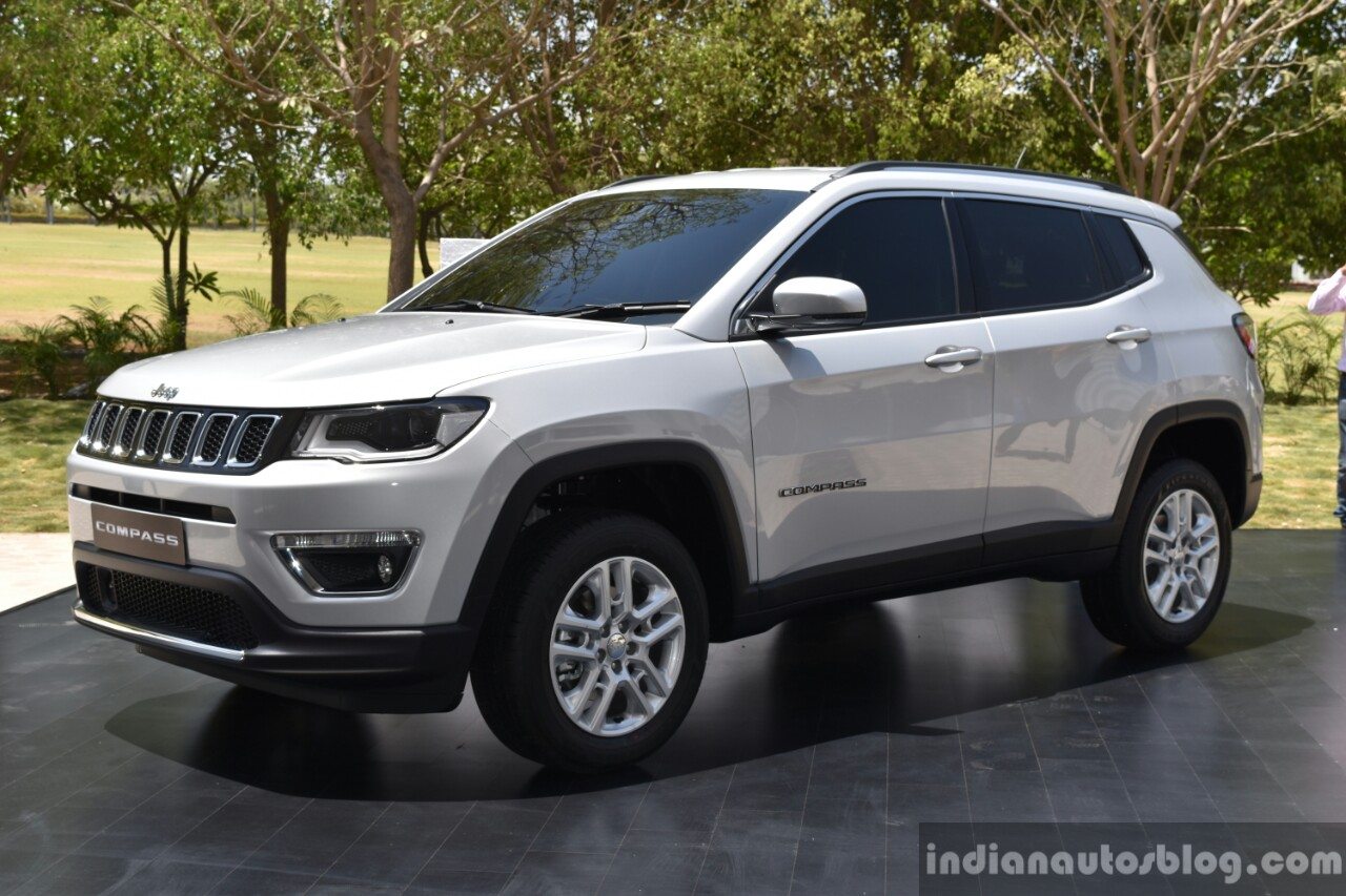 India-made Jeep Compass front three quarter unveiled